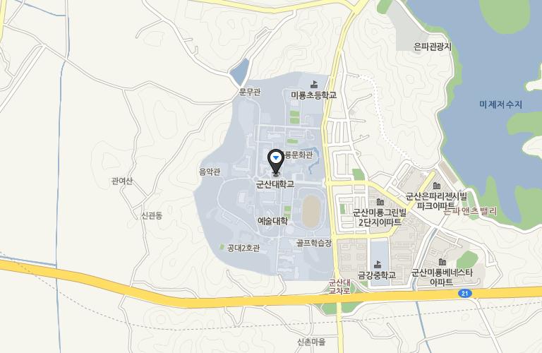 군산대학교 지도